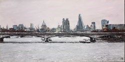 Thames, Towards the City by David Porteous Butler -  sized 32x16 inches. Available from Whitewall Galleries